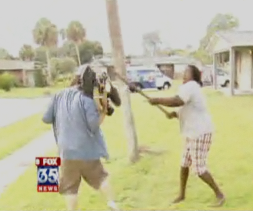 WESH videographer being attacked by grandma