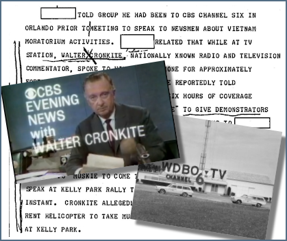 Walter Cronkite FBI files, Vietnam War protest and Orlando's Channel 6