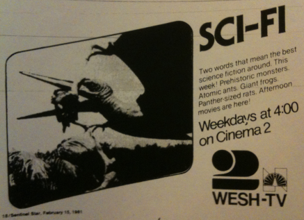 WESH 2 movie advertisement from February 1981