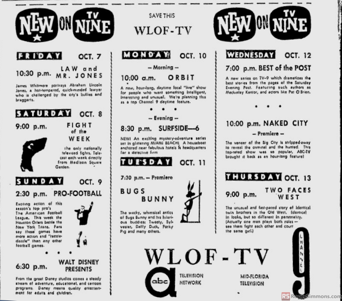 1960-10-wlof-1-new-on-nine-shows