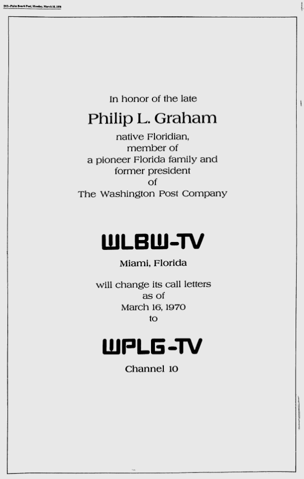 1970-03-16-wplg-call-letters