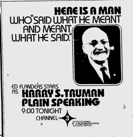 1976-10-05-wedu-harry-truman