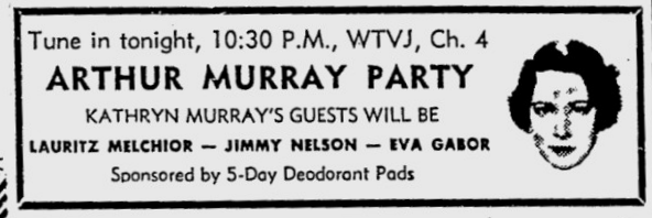 1954-09-wtvj-arthur-murray-party