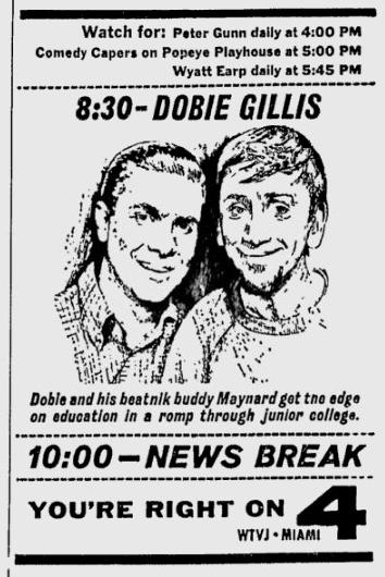 1961-10-10-wtvj-dobie-gillis