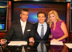 WESH's Jim Payne and Martha Sugalsky with Dr. Oz