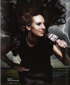 Sabrina Fine posing in Orlando Style magazine